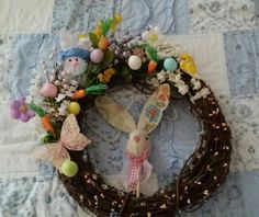 My daughters easter wreath xox