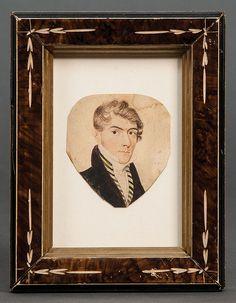 W/C miniature portrait of gentleman
