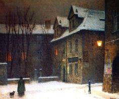 """colin-vian: """" Jakub Schikaneder - Maltese Square in Fog (1910) """""""