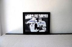baseball legends williams + dimaggio autographs