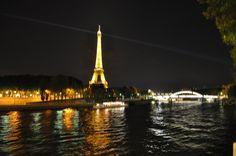 Paris bei Nacht - Bild wurde Melanie bereitgestellt, die Paris im Februar besucht hat.