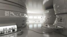 M.D.H. (Micro Defense Heuristics) labs of Mittelos Bioscience, Futuristic Architecture, Augmented Reality, Minimal, Futuristic interior, Interactive Wall, Futuristic Office, Future Technology, White Room, Futuristic Laboratory, minimalistic,