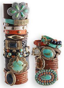 Leather bracelets!