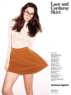 American Apparel skirt #lace #skirt #fashion