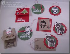 Northwest Stamper » Jennifer Blomquist, Stampin' Up! Demonstrator » Christmas Gift Tags from Scraps and No Peeking