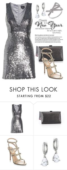 """""""HAPPY NEW YEAR! 4994"""" by boxthoughts ❤ liked on Polyvore featuring Bardot, Sondra Roberts, Valentino, Kate Spade and Apples & Figs"""