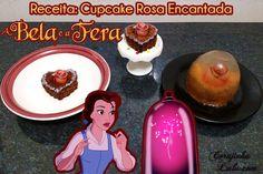 Poder nas mãos: Cupcake da Rosa Encantada de A Bela e a Fera Ideia...