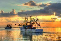 The Mississippi Gulf Coast makes for great fishing and, apparently, awesome photos – and this shot by Bo Lamey is all the proof you'll need. Double Exposure Photography, Water Photography, Levitation Photography, Abstract Photography, Macro Photography, Shrimp Boat, Old Boats, Fishing Charters, Fishing Boats
