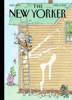 The New Yorker, New Yorker Covers, Comics Und Cartoons, New Yorker Cartoons, House Painter, Magazine Art, Magazine Covers, Thing 1, Close Up Photos