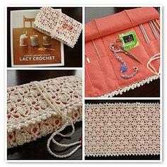 Crocheted crochet hook case