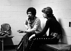 Jimi Hendrix et Mick Jagger