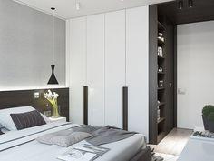 Tiszta vonalak - 63m2-es lakás berendezése a tér átszervezésével, modern stílusban