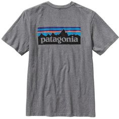Patagonia Men's P-6 Logo Cotton T-Shirt ($35) ❤ liked on Polyvore featuring men's fashion, men's clothing, men's shirts, men's t-shirts, shirts, t-shirts, tops, mens graphic t shirts, mens t shirts and men's regular fit shirts