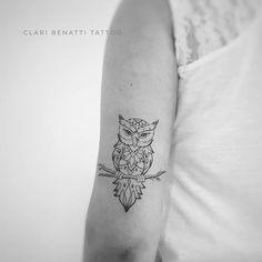 Ornamental Owl Tattoo by Clari Benatti