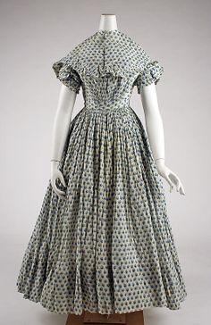 1840 via The Costume Institute of the Metropolitan Museum of Art 1800s Fashion, 19th Century Fashion, Victorian Fashion, Vintage Fashion, 18th Century, Historical Costume, Historical Clothing, Historical Dress, Vintage Dresses