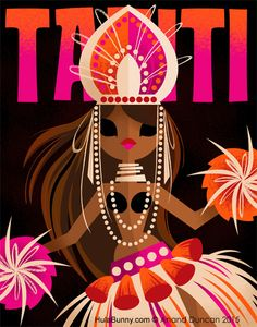 The Art of Anand Duncan: Tahiti Dancer Travel Poster Art