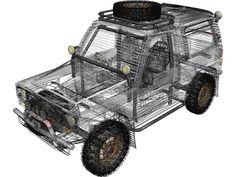 Daihatsu Rocky 3D Model Daihatsu, Taft Rocky, Rocky Blue, Blue Prints, Dan, Monster Trucks, Hobbies, Engineering, Model