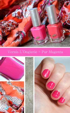 Nail Polish L'Onglerie - Pur Magenta | cherryblossom blog