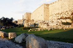 Jerusalem walls with the tower of David.