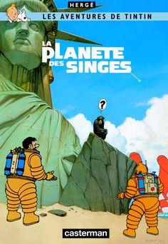 Les Aventures de Tintin - Album Imaginaire - La Planète des Singes