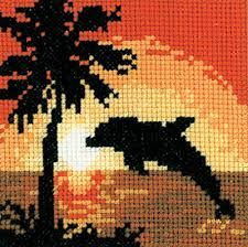 Dolphin cross-stitch cushion - need this! Cross Stitch Cushion, Cross Stitch Tree, Beaded Cross Stitch, Cross Stitch Borders, Cross Stitch Animals, Cross Stitch Kits, Cross Stitch Charts, Cross Stitch Designs, Cross Stitching