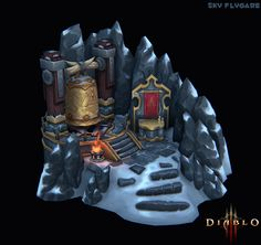 Diablo 3 Insipired Mini Environment - Polycount Forum