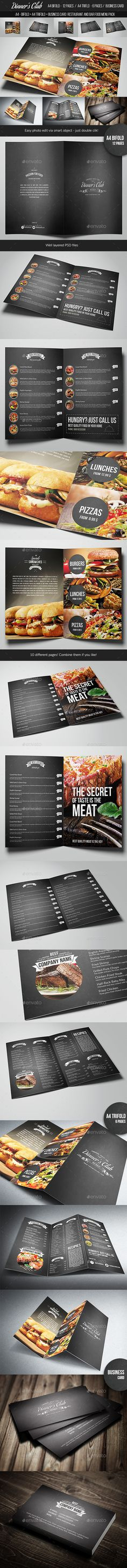 Restaurant and Bar Menu Pack Templates PSD #design Download: http://graphicriver.net/item/restaurant-and-bar-menu-pack/14293488?ref=ksioks