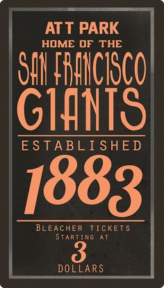 Giants old school poster!