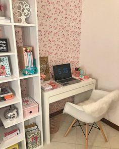 Home Decoration Living Room Teen Bedroom Designs, Bedroom Decor For Teen Girls, Room Design Bedroom, Room Ideas Bedroom, Home Room Design, Home Office Design, Home Office Decor, Home Bedroom, Diy Bedroom Decor
