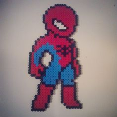 Spiderman perler beads by mattyperler