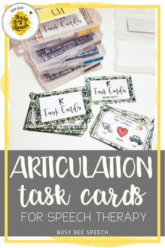 These speech therapy materials are great for grab and go articulation practice!  It includes fun card decks for the most popular sounds