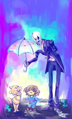 I FEEL IT IN MY BONES...---Frisk, Monster Kid, and Gaster and it's cute.