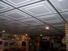 drop ceiling ideas | This is a nice example of a traditional basement drop ceiling. The ...