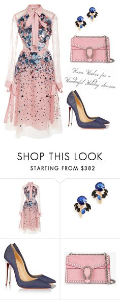 """№118"" by annanikolova ❤ liked on Polyvore featuring Elie Saab, Marni, Christian Louboutin and Gucci"