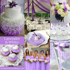 Lavender ideas  In wouldn't do the checkered tables or this cake though    I don't know of I like lavender or deep purple more...