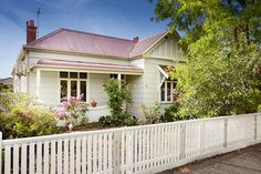 Cream & white Edwardian house