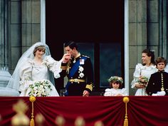Princess Diana | July 29, 1981 A glamorous girl arriving in a glass coach, wearing a wedding gown with a 25-foot train, to marry a prince in a…