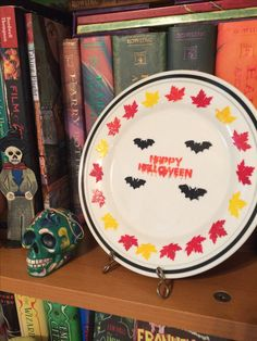 Halloween decorations painted plate