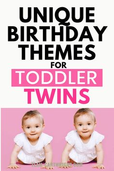 10 Simple and Unique Twin Toddler Birthday Themes! Do you have two toddlers to celebrate? These are the original theme ideas you need. Fun, easy, and on a budget.  Make at home birthday magic and love on your sweet twins! Double the love! Twin birthday themes. Toddler birthday themes. #toddlertwins #birthdaythemes #twinthemes #uniquebirthdayparty #twinmom #twinquotes Team-Cartwright.com Toddler Birthday Themes, Birthday Fun, Twin Toddlers, Toddler Twins, Twin Belly, Twins Schedule, Twin Quotes, Breastfeeding Twins, Twin Tips