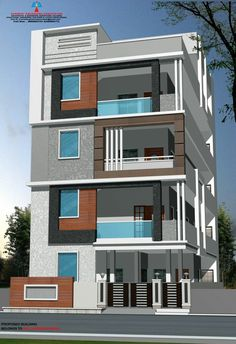 14 Front Elevation Design for Three Floor House Front Elevation Design for Three Floor House. 14 Front Elevation Design for Three Floor House. Pin by Banwari Lal On House Frant 3 Storey House Design, Duplex House Design, Small House Design, Front Elevation Designs, House Elevation, Building Elevation, Building Exterior, Building Design, Modern Bungalow Exterior