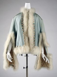 American quilted silk and fur dolman (coat) ca. 1871