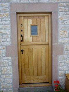 European Oak Stable Door - Kirkpatrick Furniture (ironmongery)- Small Glazed Aperture (window)  - Middleton by Wirksworth