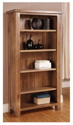 Rustic Oak Tall Bookcase is made from such kinds of woods which are really unparallel and unbeatable in the world of wooden furniture. Further info: http://solidwoodfurniture.co/product-details-oak-furnitures-3126-rustic-oak-tall-bookcase.html