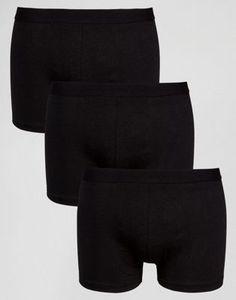 Набор из 3 черных боксеров-брифов New Look