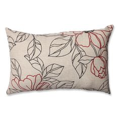 Accent your sofa with one of these stylish floral throw pillows, which features a unique sewn seam for added style. This reversible pillow features a solid tan back, so you can switch up your decor whenever you're in the mood for a change.