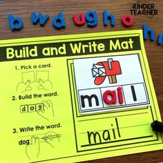 Fun phonics activity that are low prep and hands-on! Students practice building and writing words based on spelling patterns. Link in bio! Kindergarten Special Education, Numbers Kindergarten, Physical Education Games, Student Learning, Elementary Teacher, Elementary Schools, Fun Phonics Activities, Learning Phonics, Kindergarten Activities