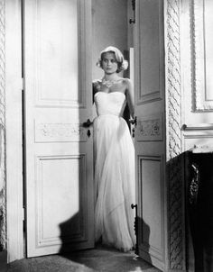 Likely the most beautiful chiffon dress to ever hit the silver screen is the white number worn by Grace Kelly in To Catch A Thief. Created by legendary costume designer Edith Head, it remains as beautiful today as it did 1955 - the mark of truly amazing design.