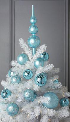 white christmas tree ideas pinterest - Google Search