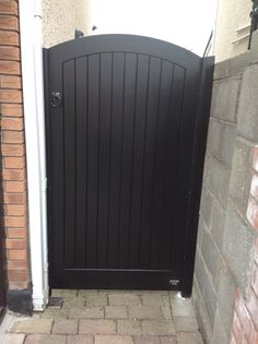 Wooden side entrance gate Ireland by Burke joinery                                                                                                                                                     More