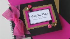 A5 'Buttons' Party Guest Book